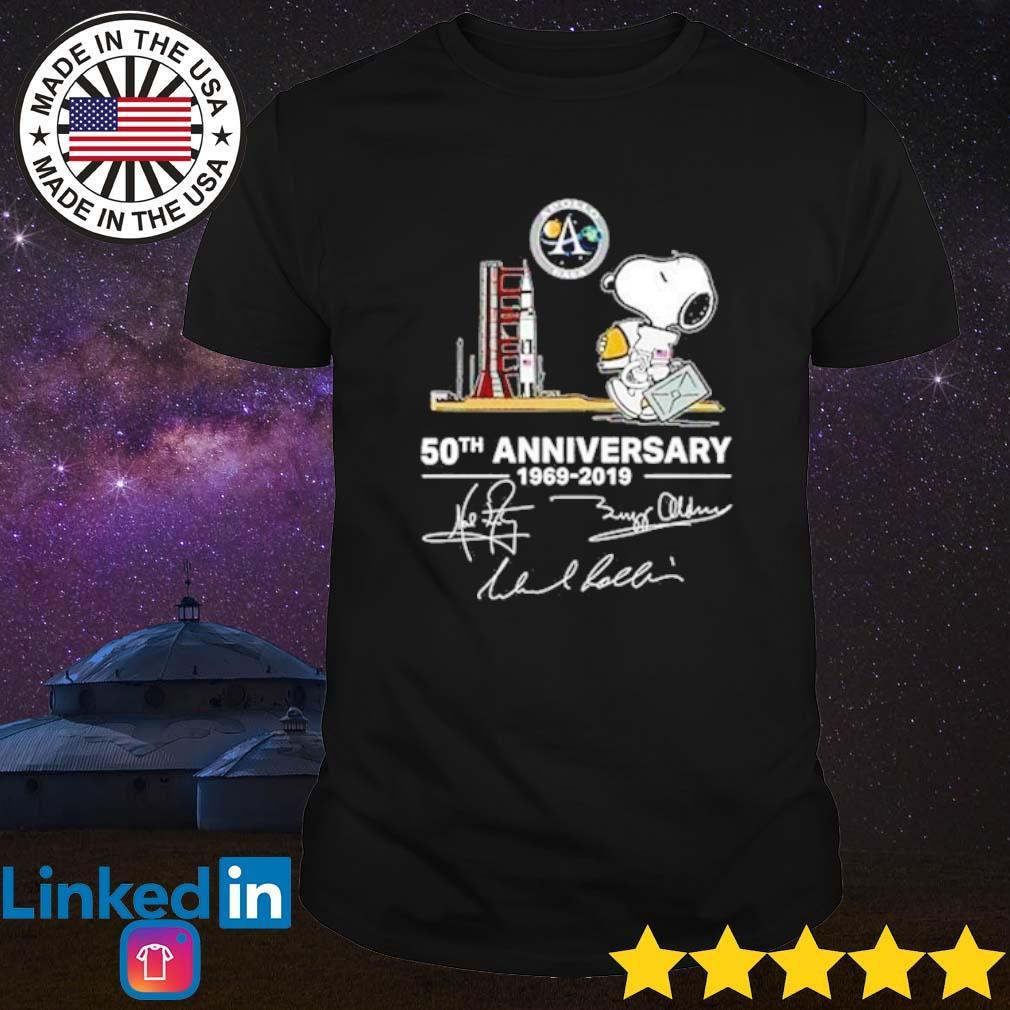 Snoopy Apollo Nasa 50th Anniversary 1969-2019 signature shirt