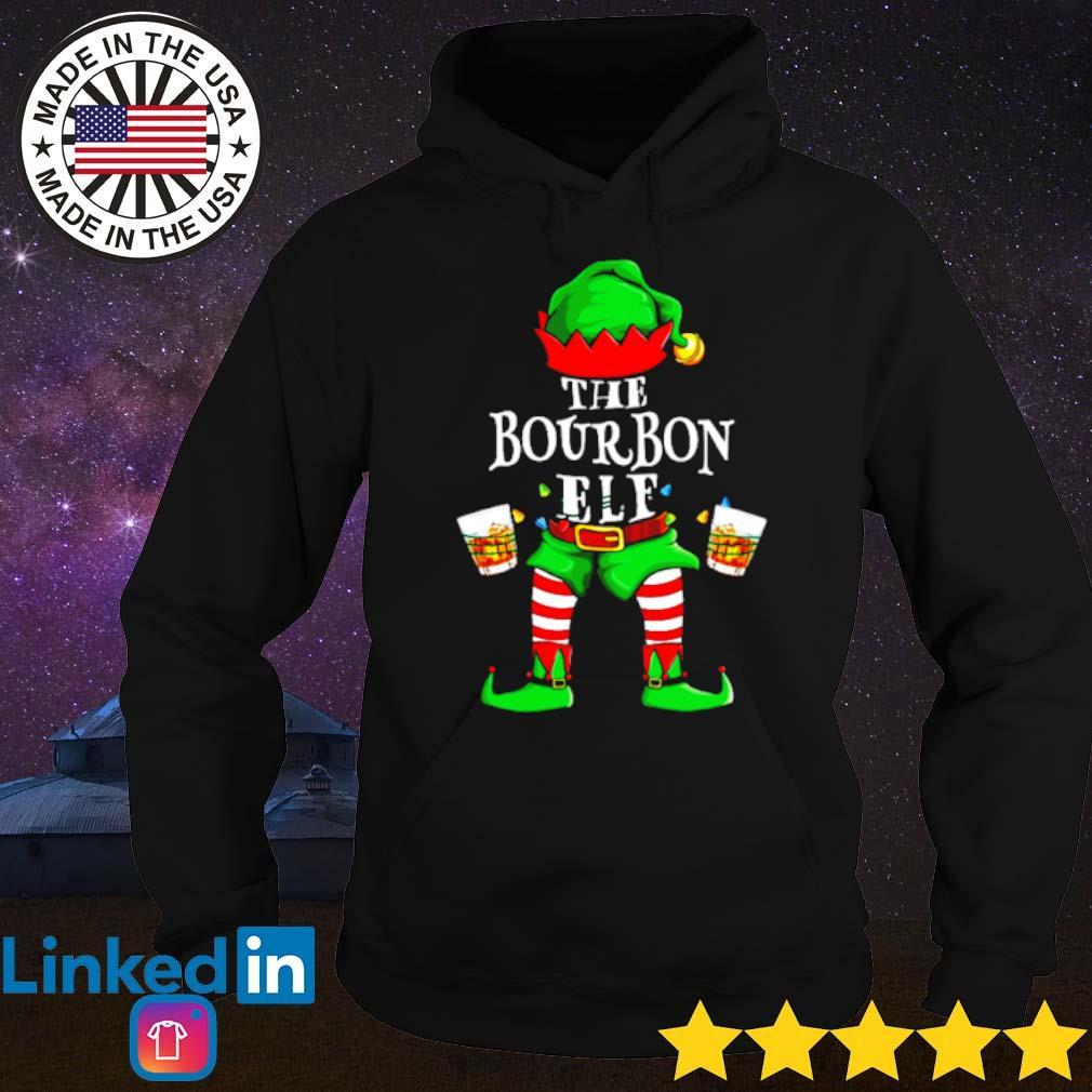 The Bourbon Elf Christmas sweater Hoodie