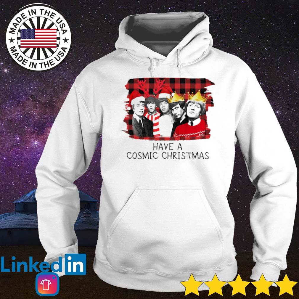 The Rolling Stones have a cosmic Christmas sing this all together sweater Hoodie