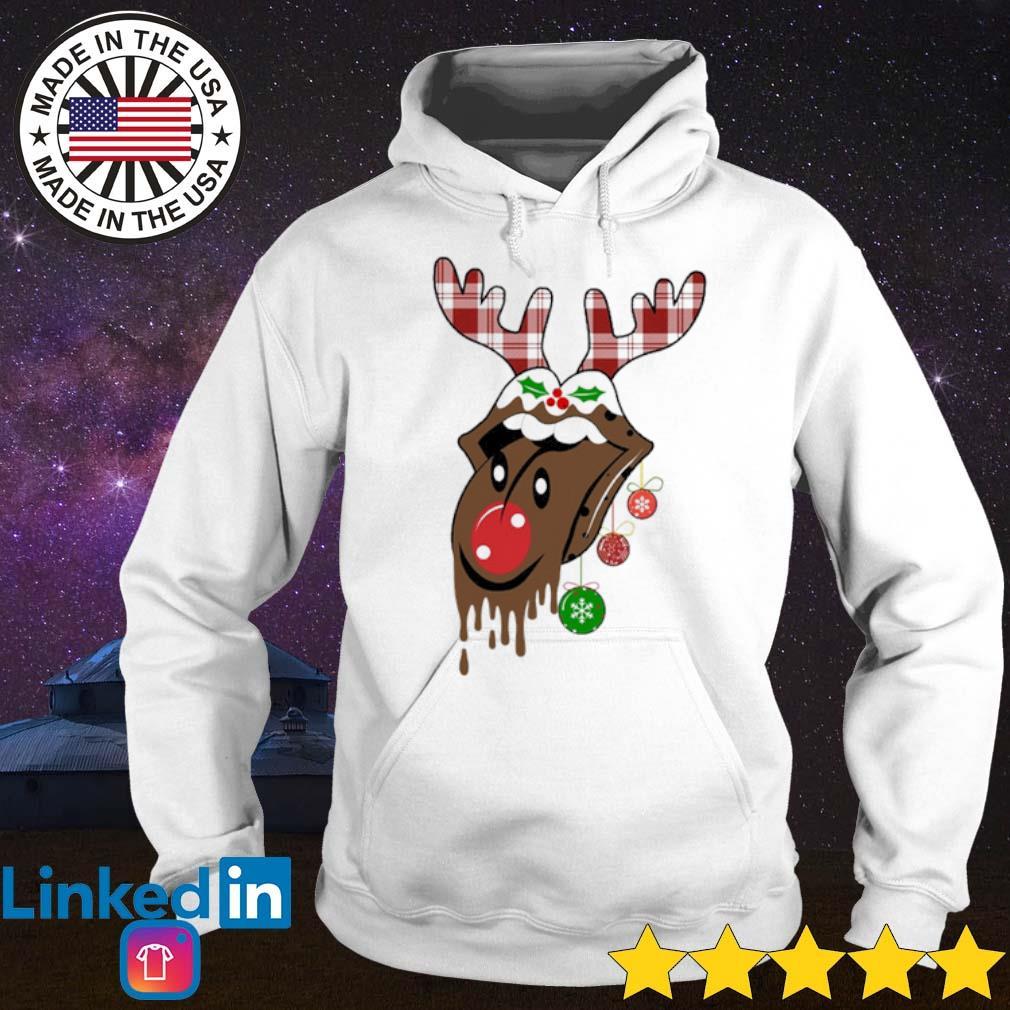 The Rolling Stones reindeer Christmas sweater Hoodie