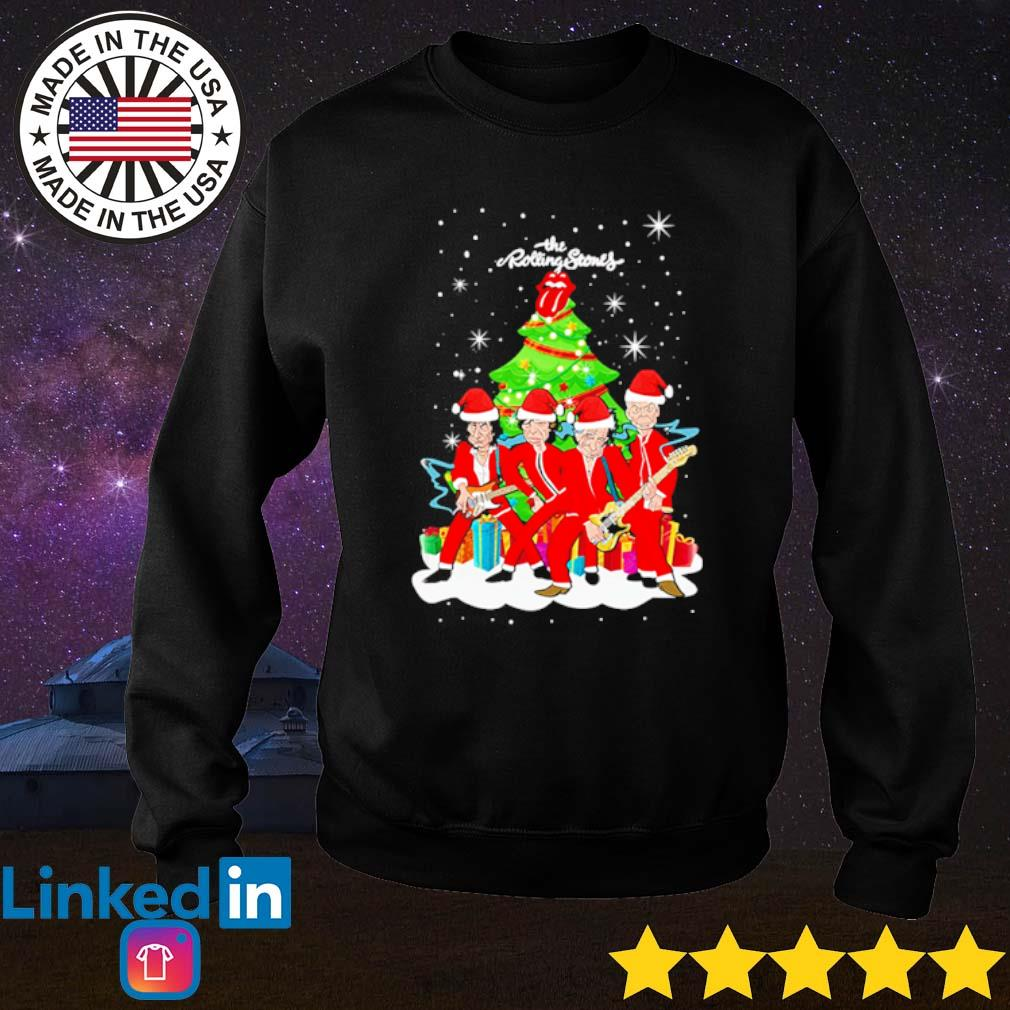 The Rolling Stones sing this all together Christmas tree sweater