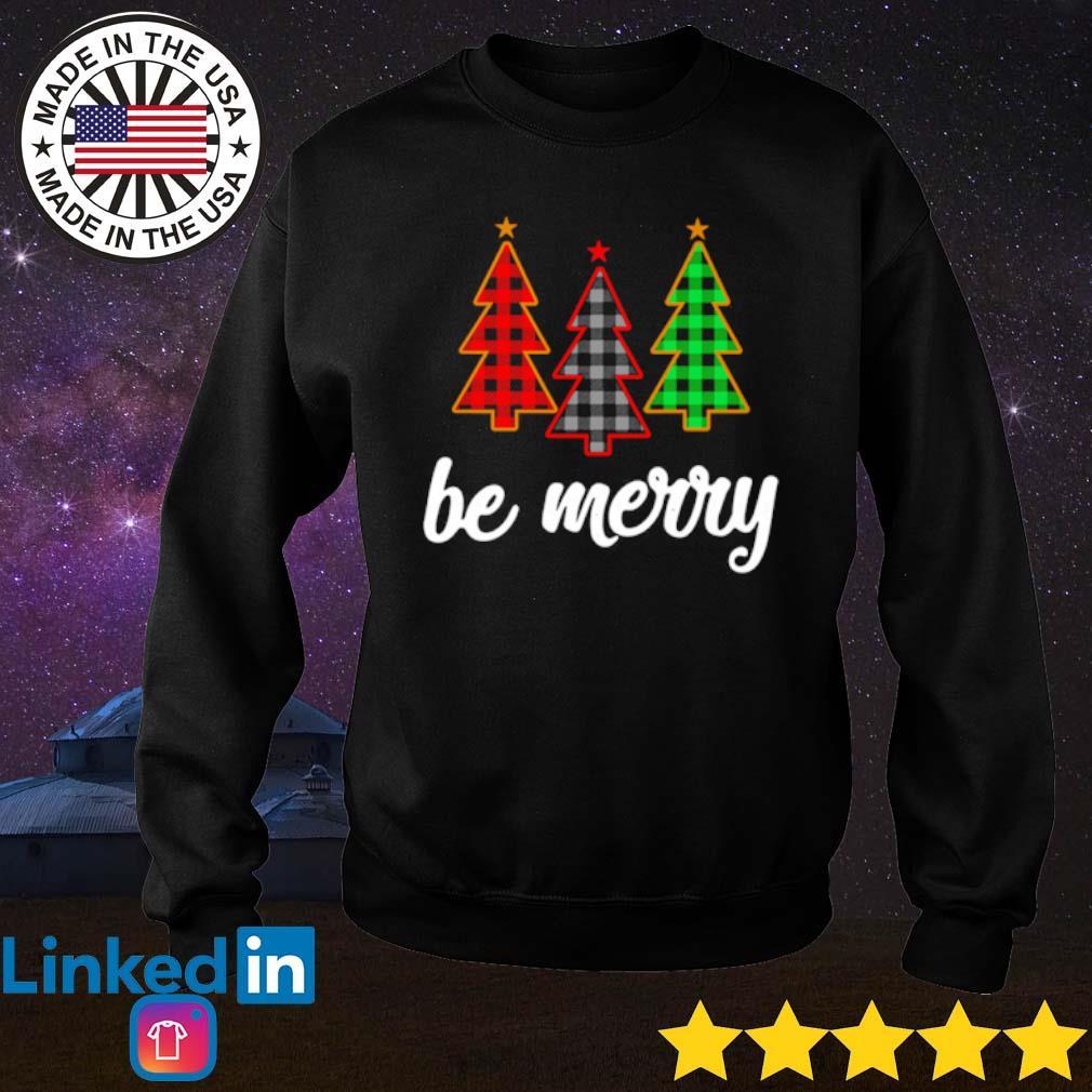 Three tree be Merry Christmas sweater