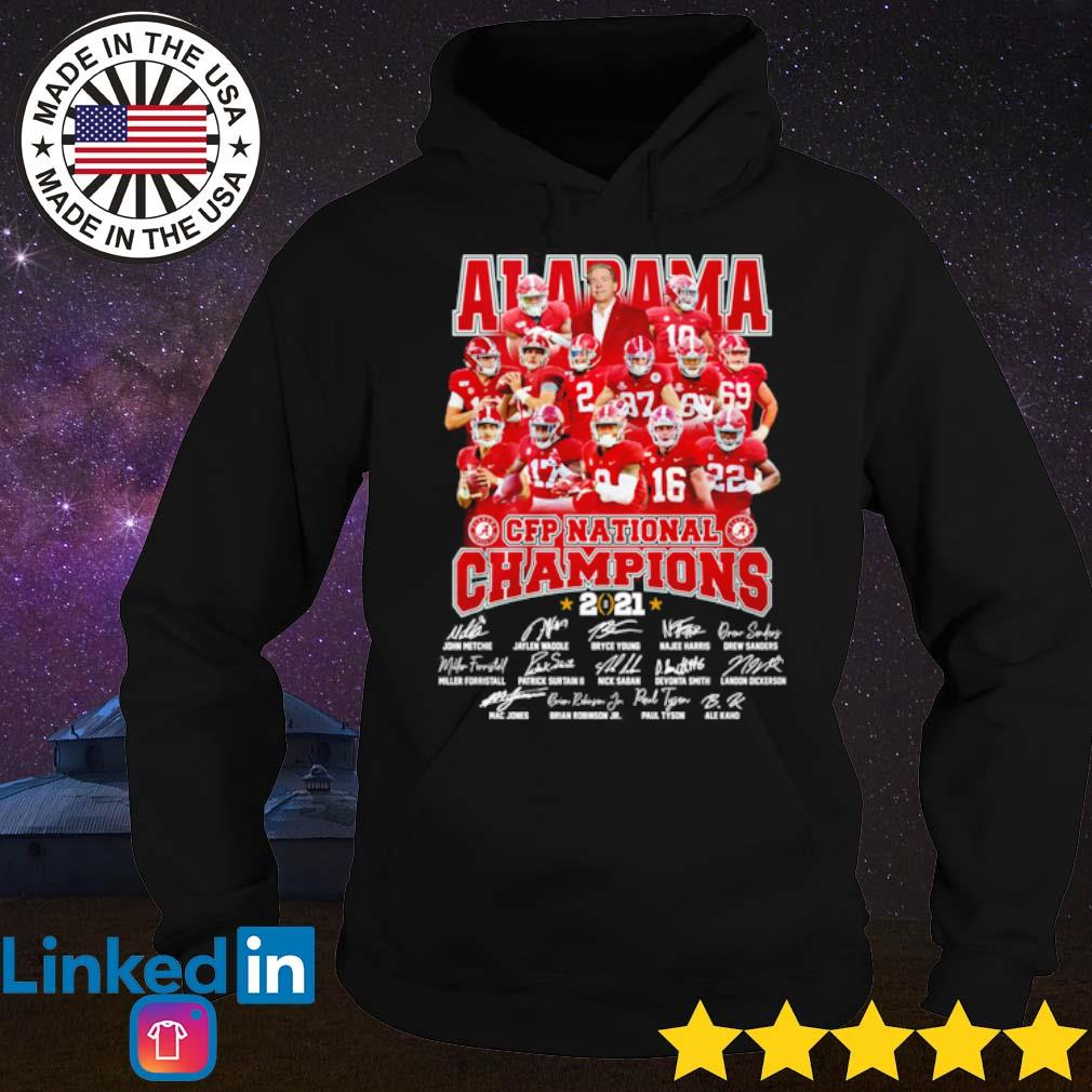 Alabama CFP National Champions 2021 signatures s Hoodie