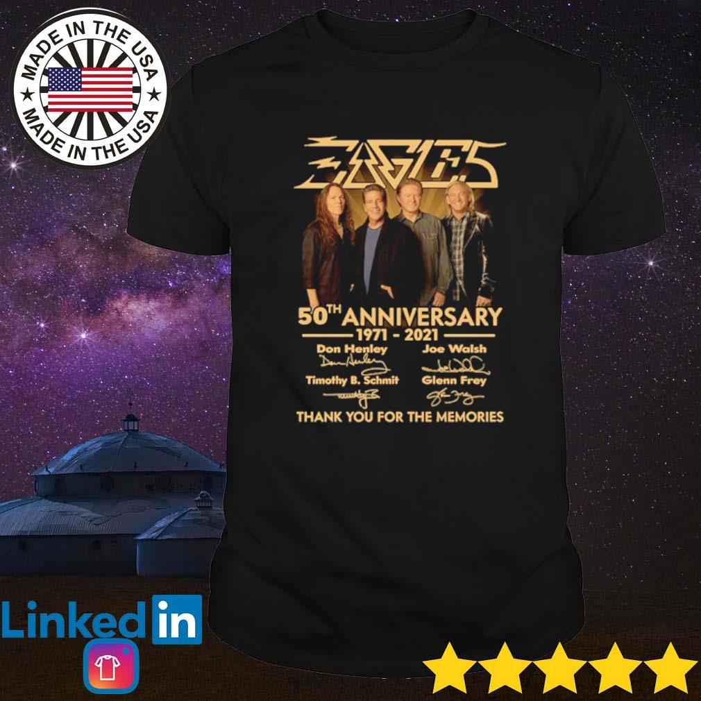 Eagles 50th anniversary 1971-2021 thank you for the memories signatures shirt