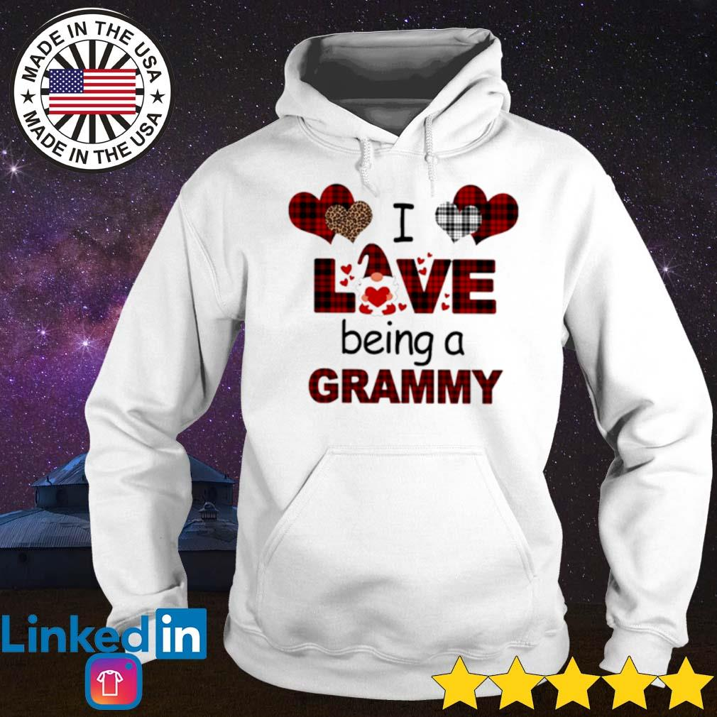 Gnome valentines day I love being a grammy leopard caro s Hoodie
