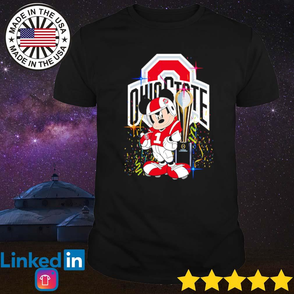 Ohio State Buckeyes Mickey Mouse champions cup shirt